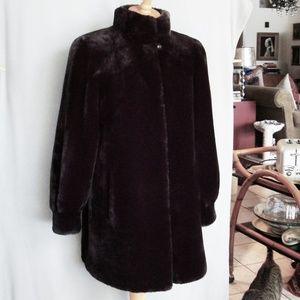 Sprung Freres black mouton coat